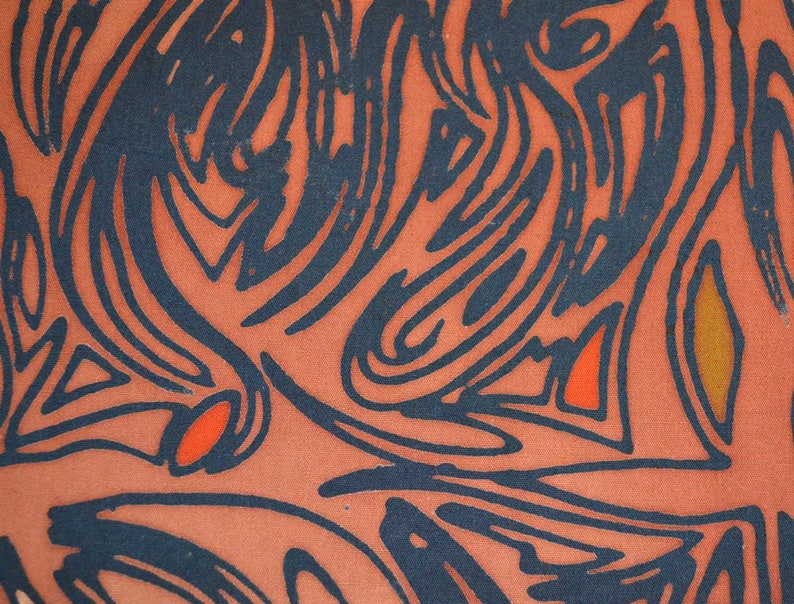 Malaysian Artisan Batik Fabric: Jewel  Wood image 0