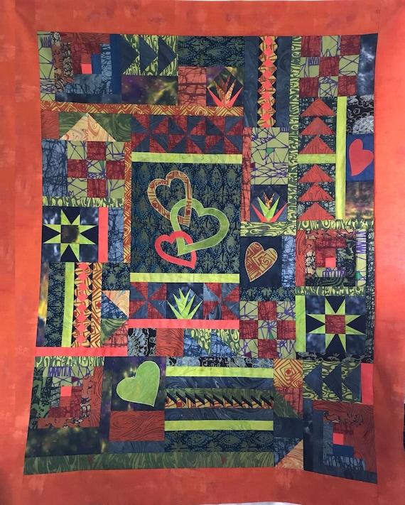 Random Heart Sampler Quilt Pattern By Quilting Fabrications Etsy