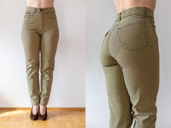 Vintage Tweed Pants | 80s does 50s Plaid Trousers… - image 1