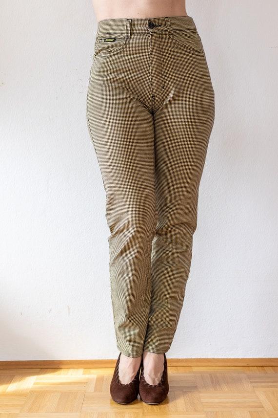 Vintage Tweed Pants | 80s does 50s Plaid Trousers… - image 2
