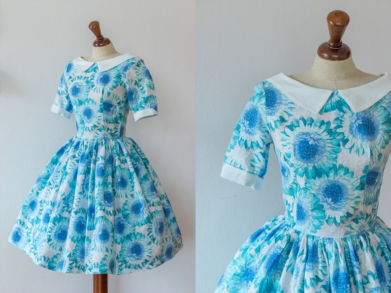 up-to-date styling first look buy good UNIQUE 1950s Summer Dress | Vintage Floral Dress | 50s Style Prom Dress