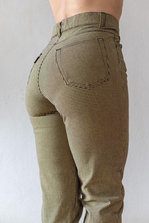 Vintage Tweed Pants | 80s does 50s Plaid Trousers… - image 6