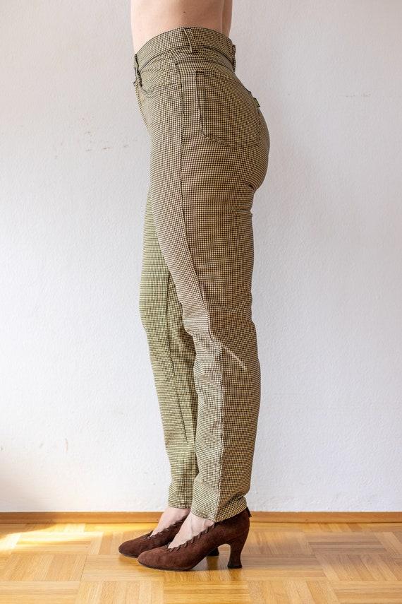 Vintage Tweed Pants | 80s does 50s Plaid Trousers… - image 4