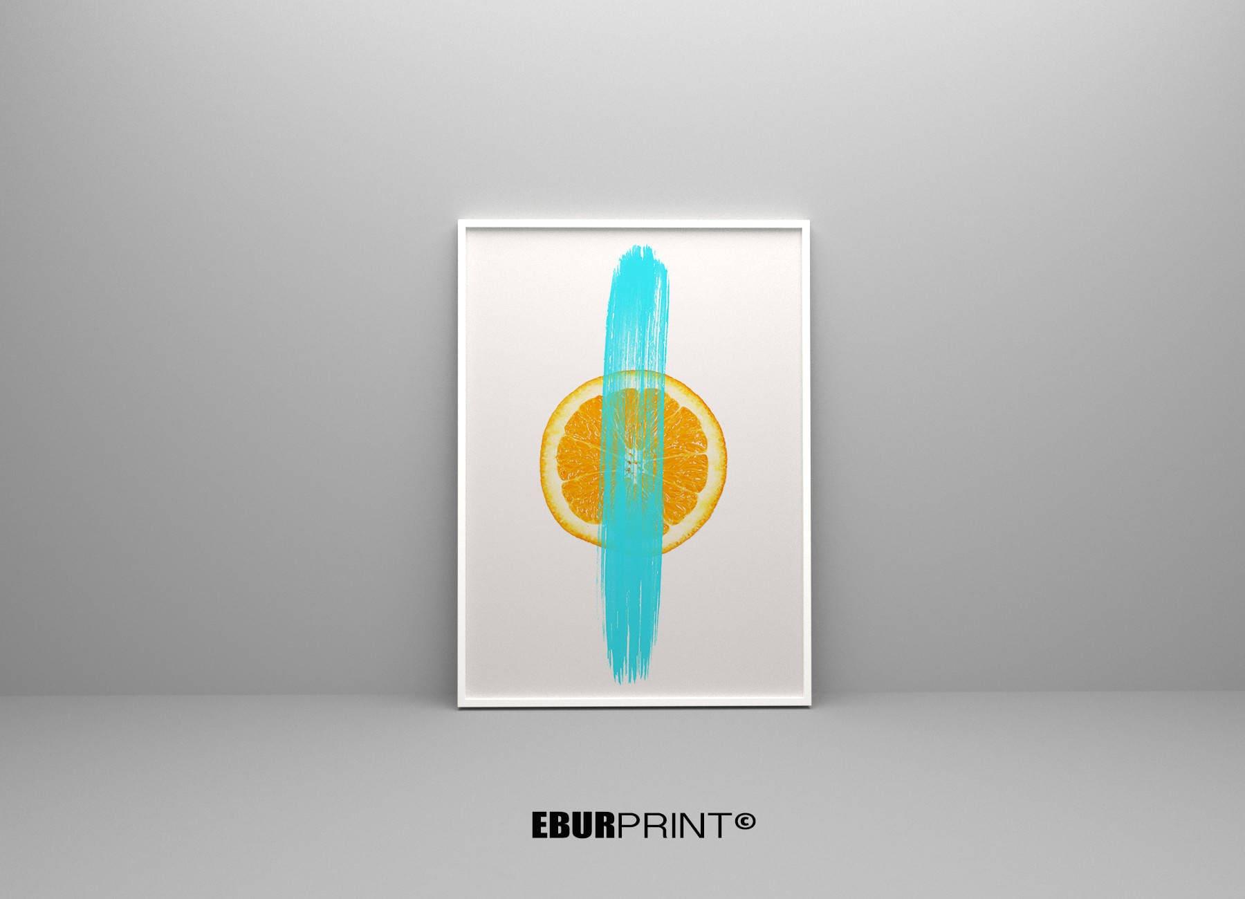 Zitrus Digital Poster-Orange Orange-Drucke digitaler