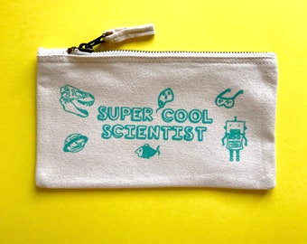 Canvas Pencil Case SUPPLIED EMPTY School gift Awesome Chemistry Teacher