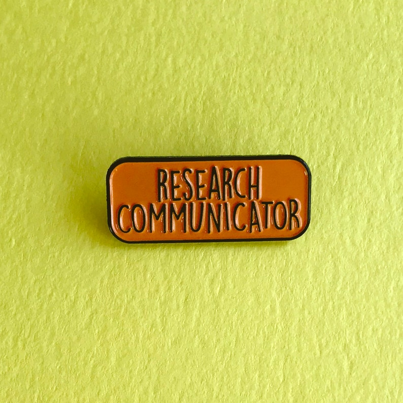 Research Communicator Enamel Pin Badge  Orange  image 0