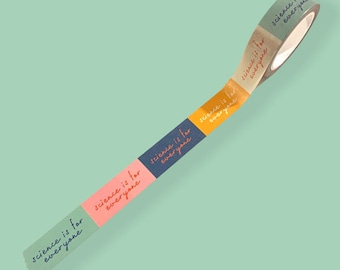 Science Is For Everyone Washi Tape 15mm