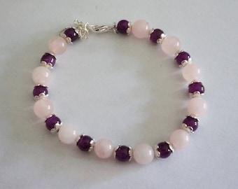 Plum and pink bracelet