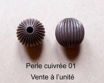 1 round Pearl copper tone, 3 different designs
