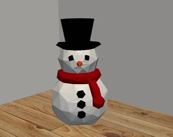 DIY 3D Paper Snowman