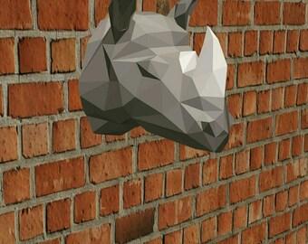 DIY Rhino Head 3D Paper