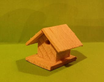 Miniature bird nest wooden