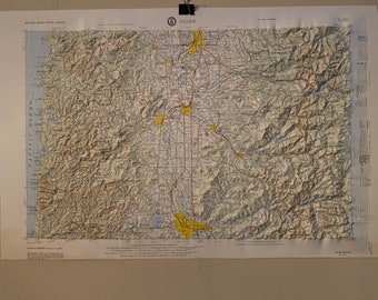 Concrete USGS Regional 3D Raised Relief Map in the state of WA
