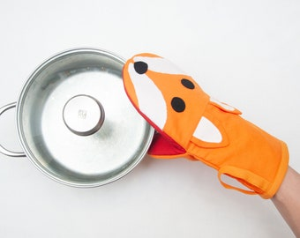 Fox Oven Mitt | Fun Character Oven Glove for your Kitchen