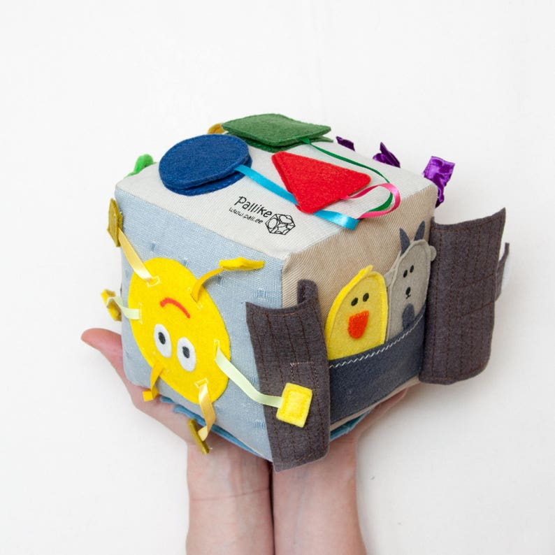 Quiet CUBEBaby Boy is Montessori Toy for Toddlers Busy Book for Fine Motor Skills Baby Gift Book and Sensory Toy