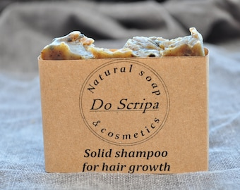 Solid shampoo for hair growth-Silk Conditioner Bar-Ayruvedic Shampoo Bar with herbs and essential oils-Sulfate Free Hair Care-Hair Soap