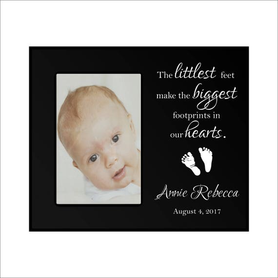 Personalized Baby Picture Frame The Littlest Feet Make Etsy