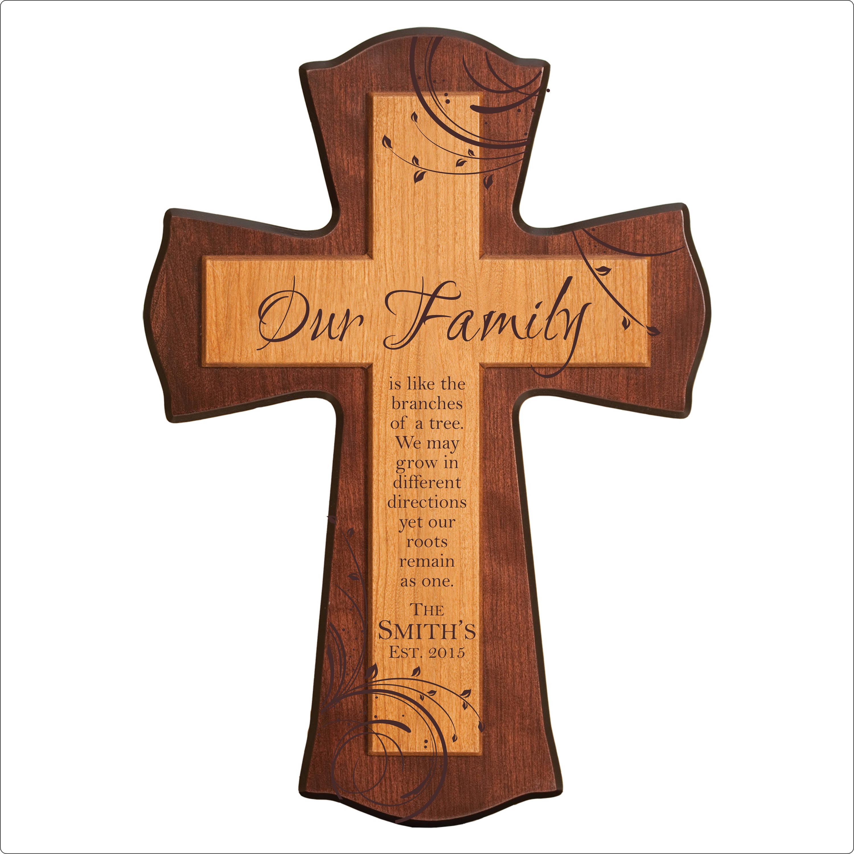 Personalisierte Familie Kreuz unsere Familie ist wie | Etsy