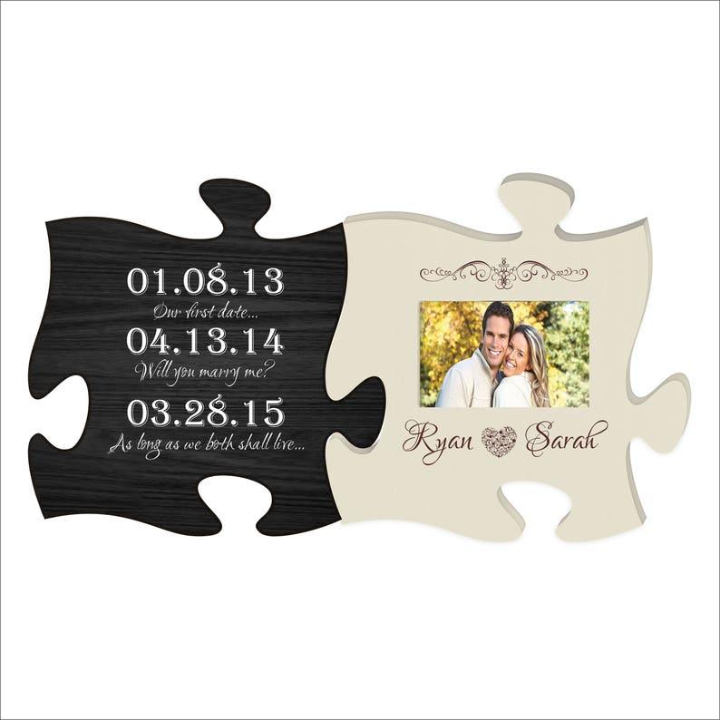 e668136c51692 Custom Puzzle Piece Photo Frame Special Dates Picture Frame