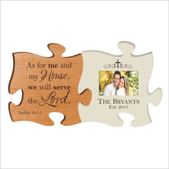 Personalized Puzzle Piece Photo Frame Great Housewarming Etsy