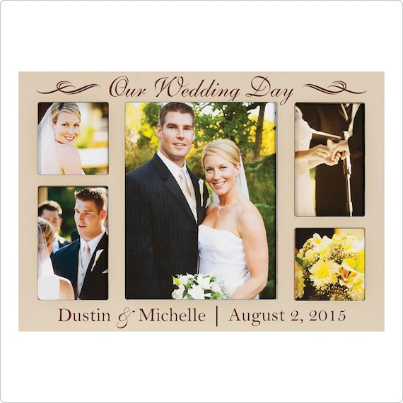 personalized wedding frame wedding collage our wedding etsy personalized wedding frame wedding collage our wedding day great wedding gift wedding photo frame custom picture frame
