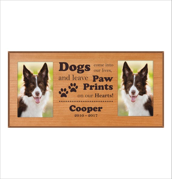 Custom Dog Photo Frame Dogs Come Into Our Lives And Etsy