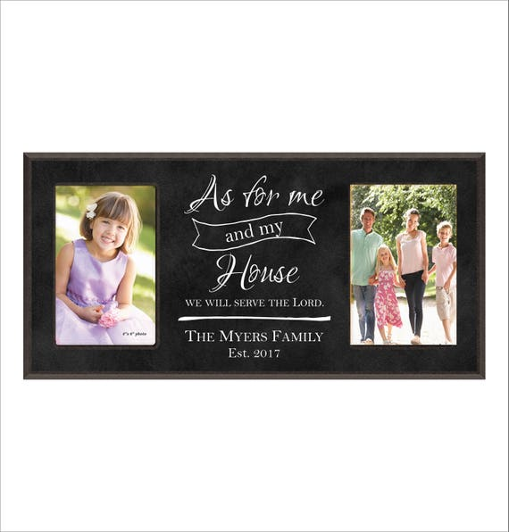 Personalized Family Photo Frame As For Me And My House Etsy