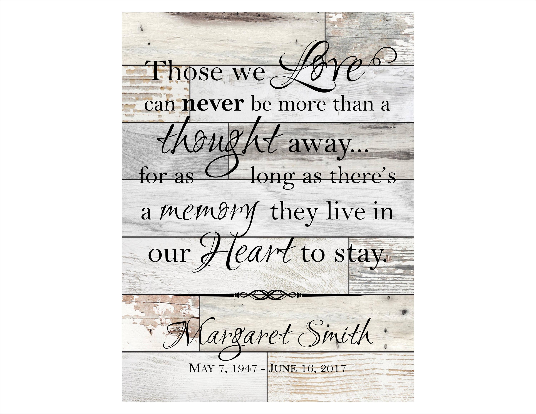 Personalisierte In Erinnerung Plaque In liebevoller