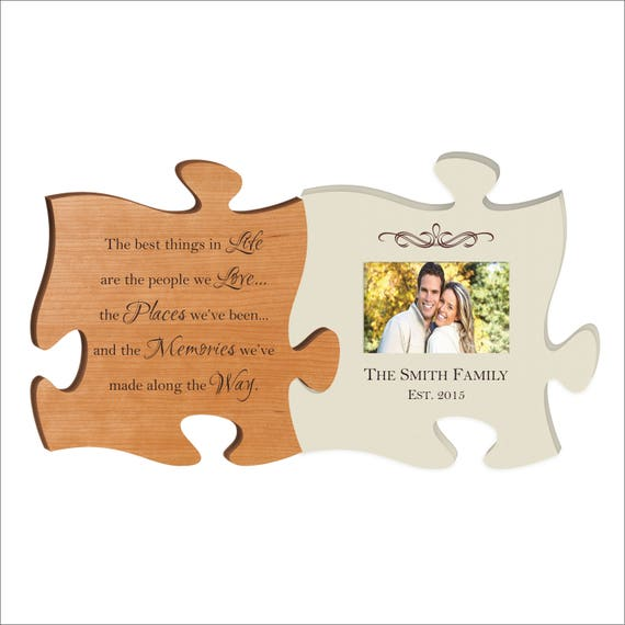 Custom Puzzle Piece Photo Frame Set The best things in