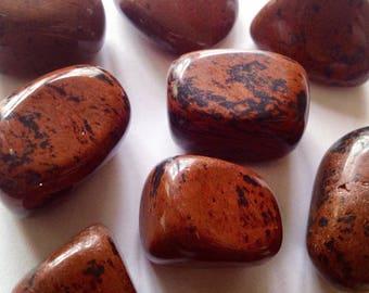 Obsidian mahogany - rolled stone