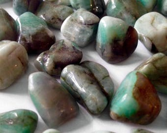 Emerald - rolled stone