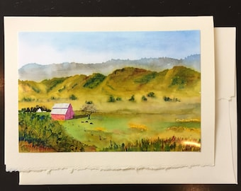 Old Barn, California Greeting Card