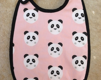 Pink 6/12 months collection Pandas background Terry bib