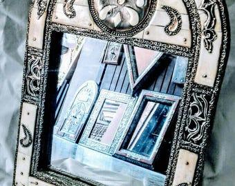 Moroccan Mirror with Camel Bone Handmade Handicraft Mirror