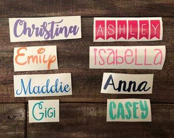 Custom Name Sticker Decal | Name Decal | Name Labels | Custom Vinyl Sticker | Custom Vinyl Decal | Personalized Sticker | Vinyl Decal
