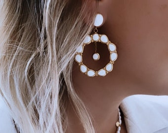 Vintage style Creole earrings for women