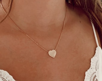 Gold-plated heart necklace for women