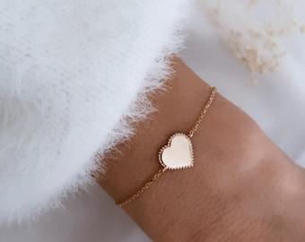 Gold-plated heart bracelet for women