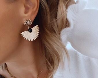 Boucles d'oreilles bohème en acier inoxydable pour femme