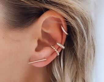 Gold plated earring rings for women