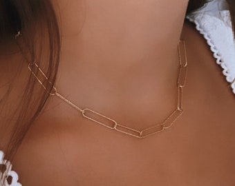 Women's gold-plated diamond mesh large necklace