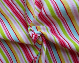 1 m Jersey stripes - striped fine jersey - largeur160cm