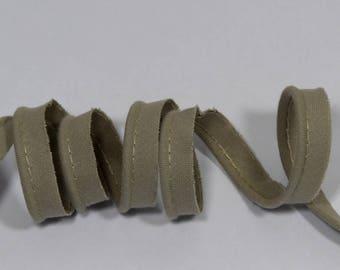 4 m piping greige cotton - grey beige 10 mm