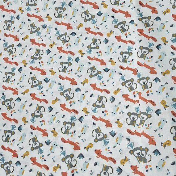 Coloré Animaux Öko-Tex Tissu 100/% coton De Coton