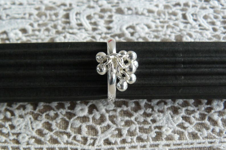 for women 925 Silver ring for girls silver Sterling Adjustable ring perlesargent