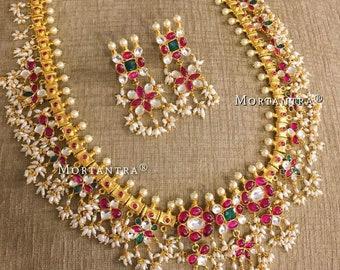 4171fd3a30a2f Guttapusalu necklace | Etsy