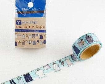 Masking Tape -  ROUND TOP, 洗濯物 (Laundry), 20mm x 5m