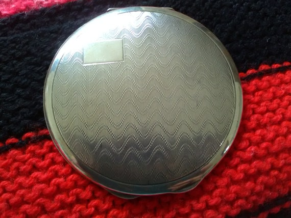 Vintage Sterling Silver Compact, Silver Compact, L