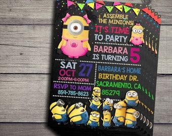 Minions Invitation, Minions Birthday Invidation, Minions Birthday Party Invite, Minions Printable File