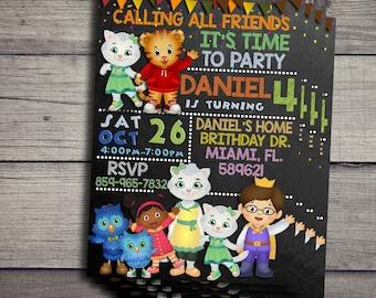 Daniel Tiger Birthday Invitation, Daniel Tiger Birthday Invite, Daniel Tiger Invitations, Daniel Tiger Birthday Invites, Daniel Tiger